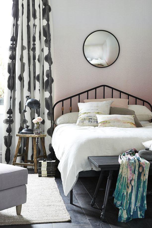 slaapkamer decoratie ideeën ombre muur