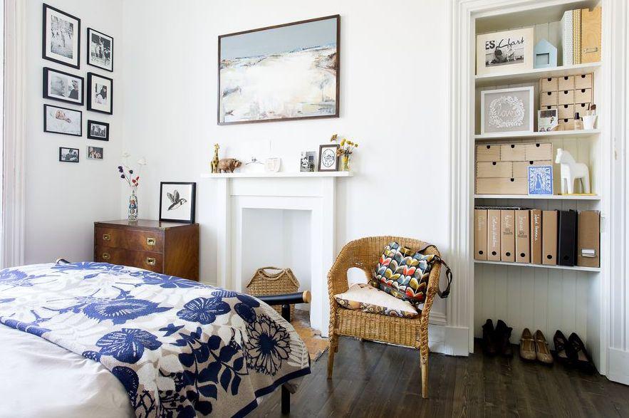 slaapkamer decoratie ideeën vaste open kast inrichten