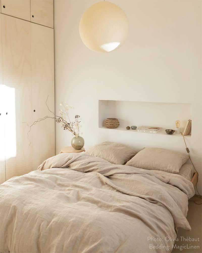 slaapkamer decoratie ideeen verse bloemen