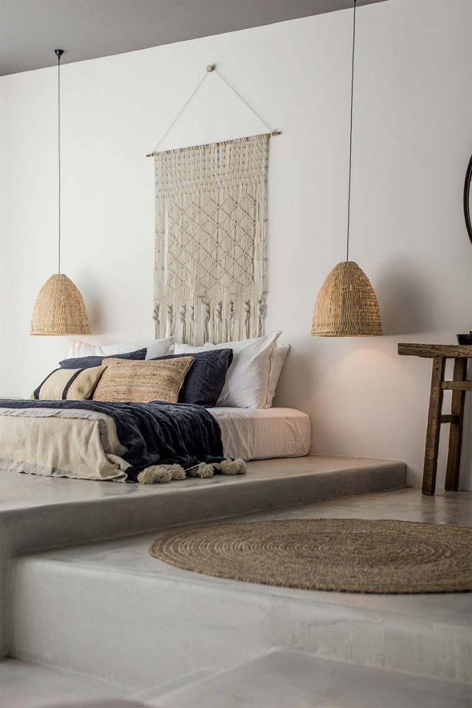 slaapkamer decoratie ideeen wandkleed