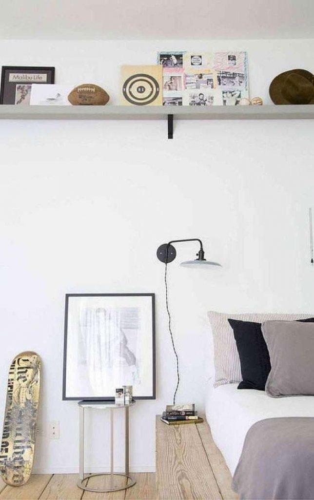 slaapkamer decoratie ideeen wandplank