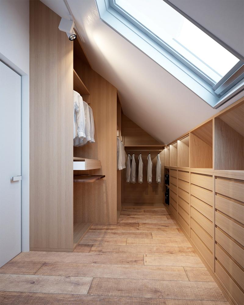 slaapkamer decoratie ideeen zolder inloopkast