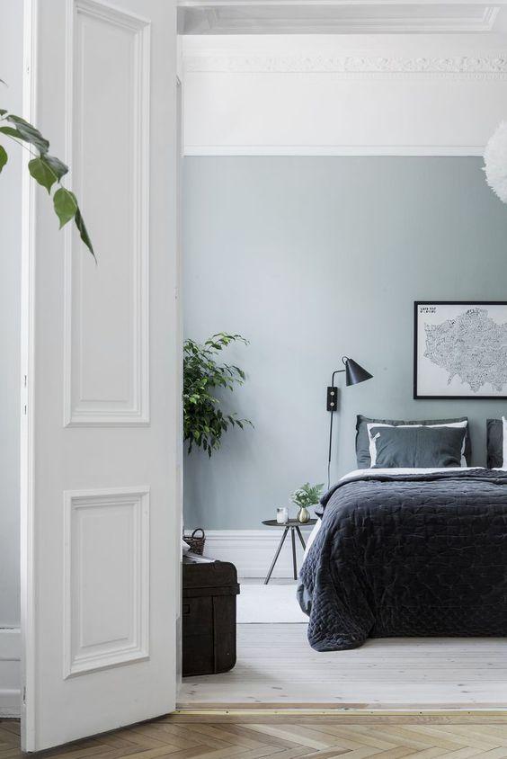 slaapkamer ideeën groene muur
