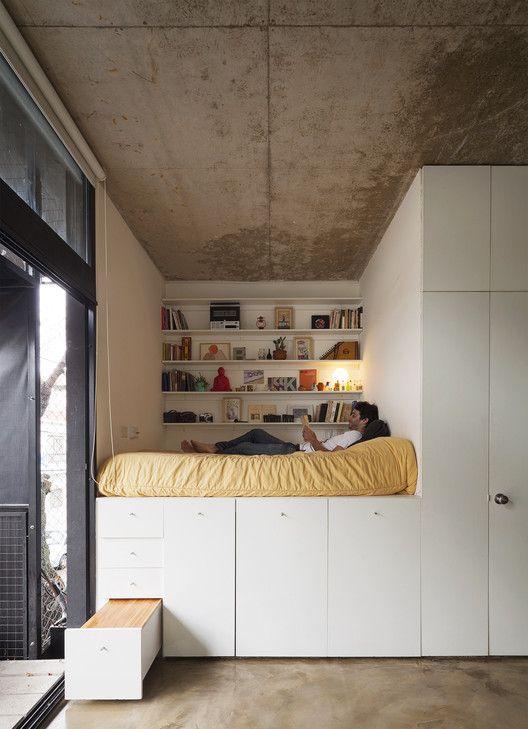 slaapkamer ideeën hoogslaper-kastruimte