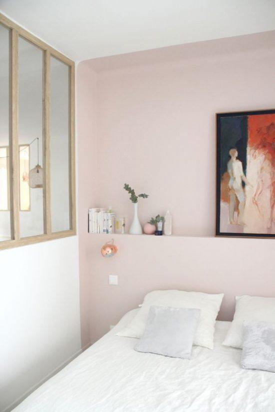 slaapkamer ideeën muurtje achter bed