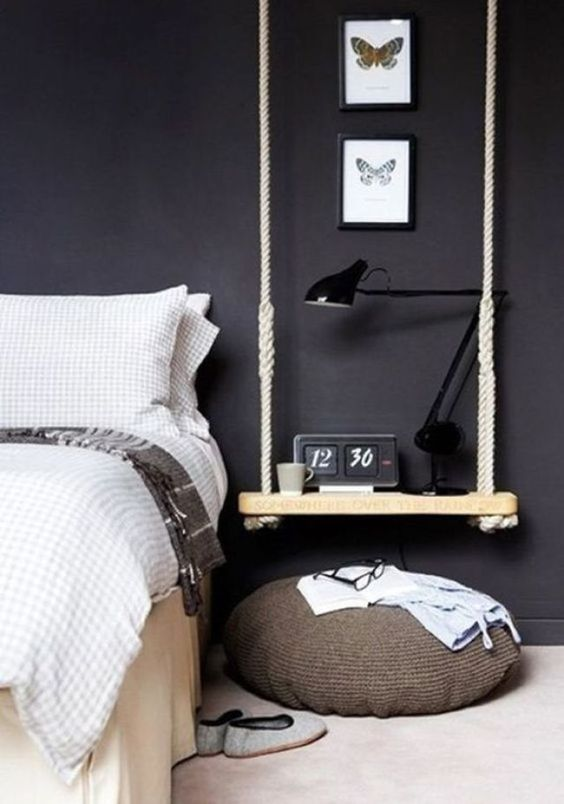 slaapkamer ideeën nachtkastje schommel
