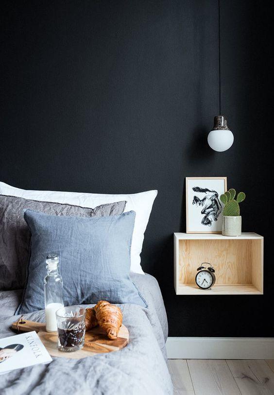 slaapkamer ideeën nachtkastje underlayment