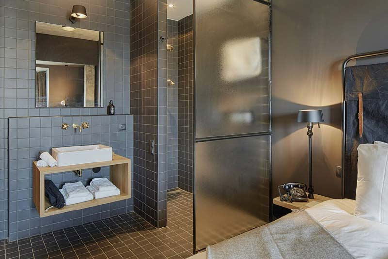 slaapkamer ideeën open badkamer