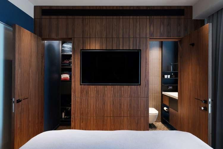 slaapkamer ideeën tv aan muur