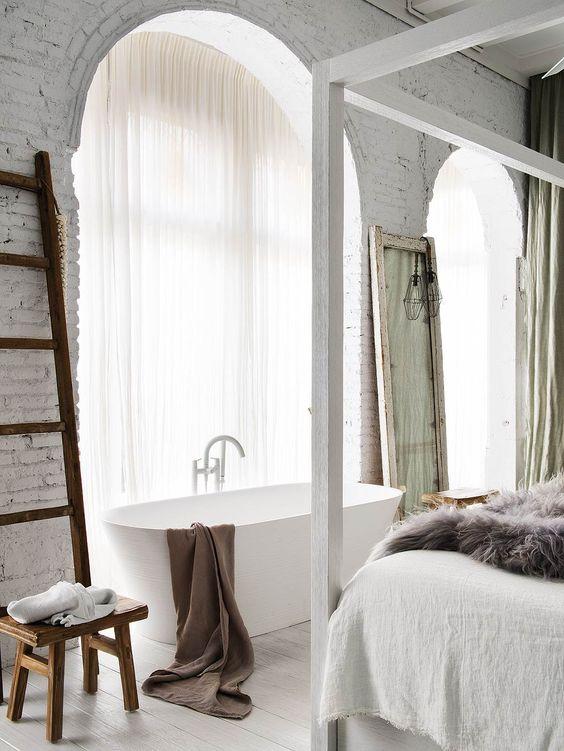 slaapkamer ideeën vrijstaand bad