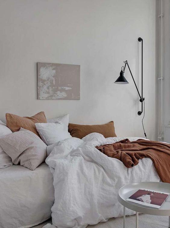 slaapkamer ideeën wandlamp