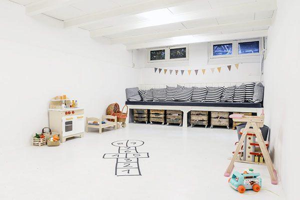 Slaapkamer in souterrain