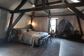 Slaapkamer van Mother Goose Hotel in Utrecht