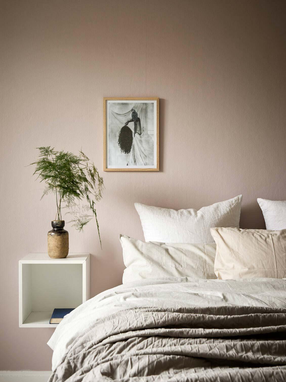 slaapkamer planten nachtkastje