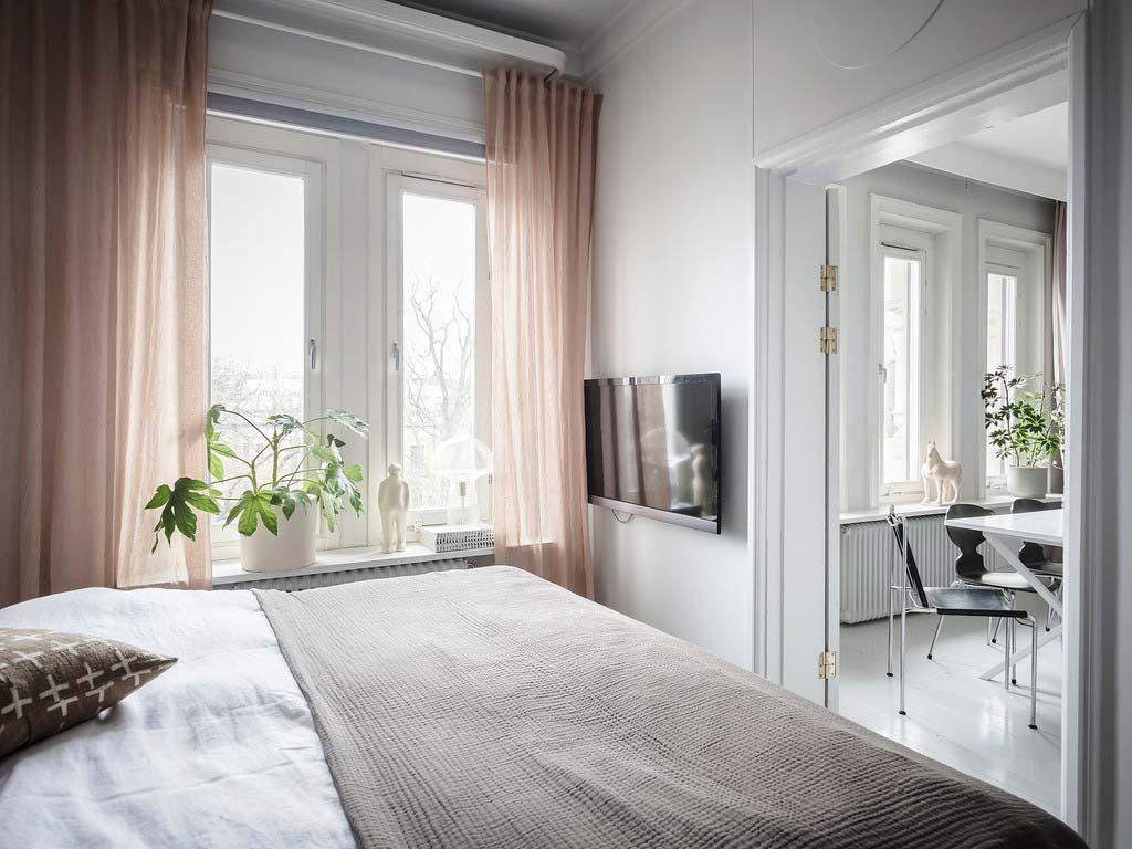 slaapkamer planten op vensterbank