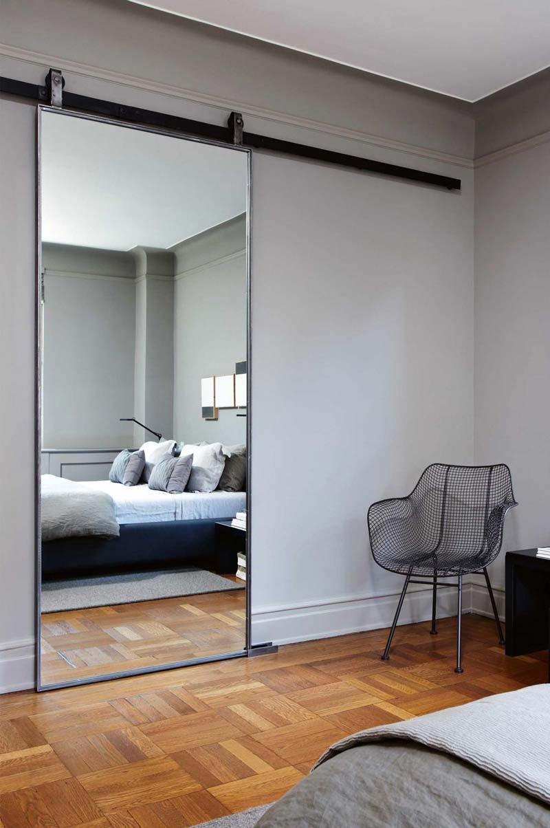 slaapkamer spiegel schuifdeur