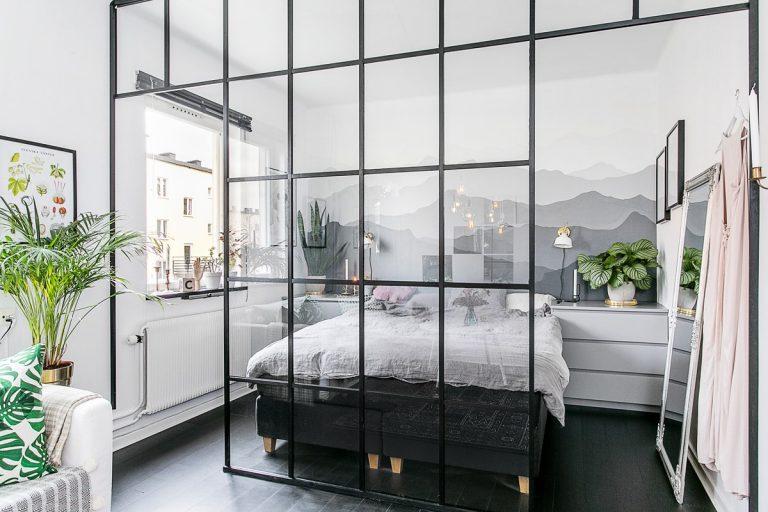Verwonderend 10x Slaapkamer met stalen kozijnen wand | HOMEASE NK-85