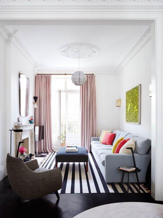 smalle woonkamer inrichten witte muren