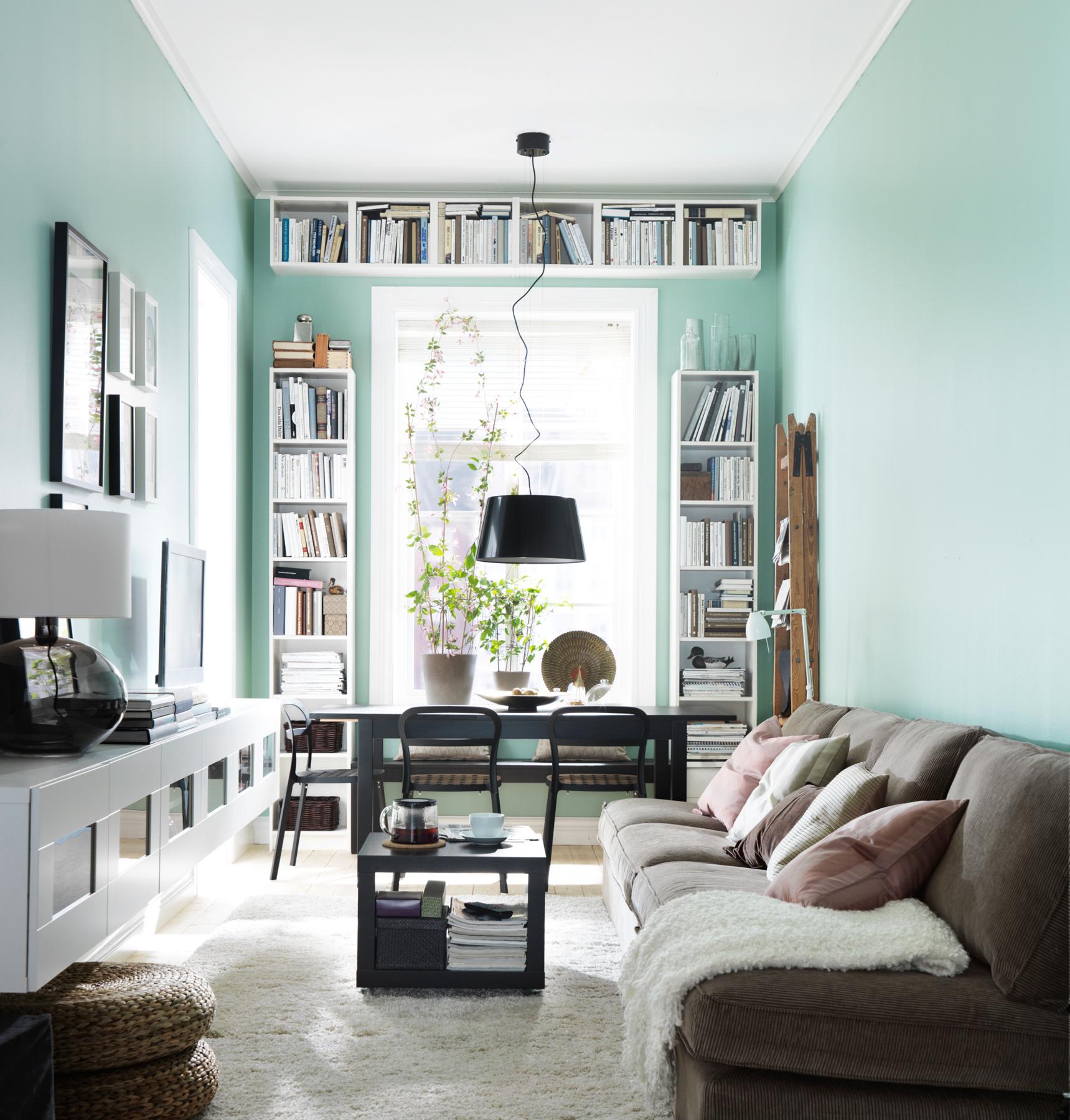 smalle woonkamer inrichten IKEA
