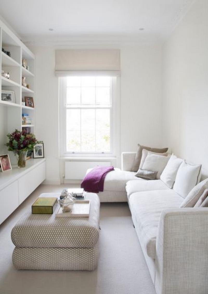 Smalle woonkamer inrichten met multifunctionele kast