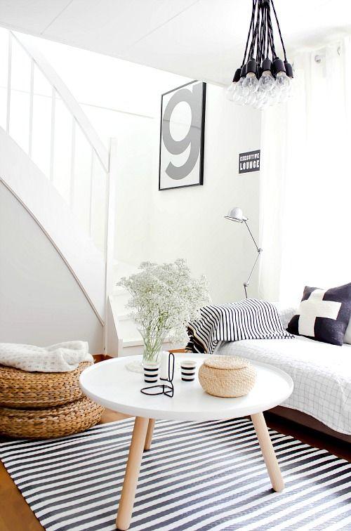 smalle woonkamer inrichten ronde vormen