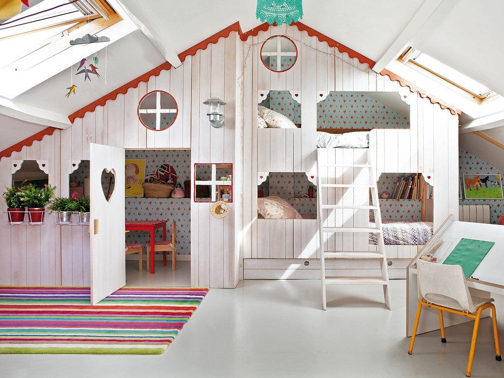 Spaanse ontwerpster ontwerpt kinderkamer voor haar dochter met een sprookjeshuis!