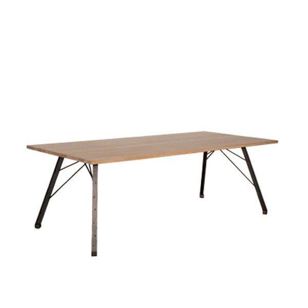Spoinq Straight tafel met stalen onderstel