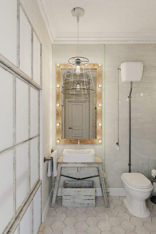 Stoere badkamer loft
