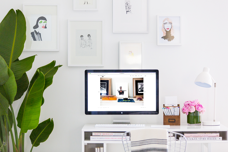 Studio kantoor van Carly Kuhn, aka  the @thecartorialist