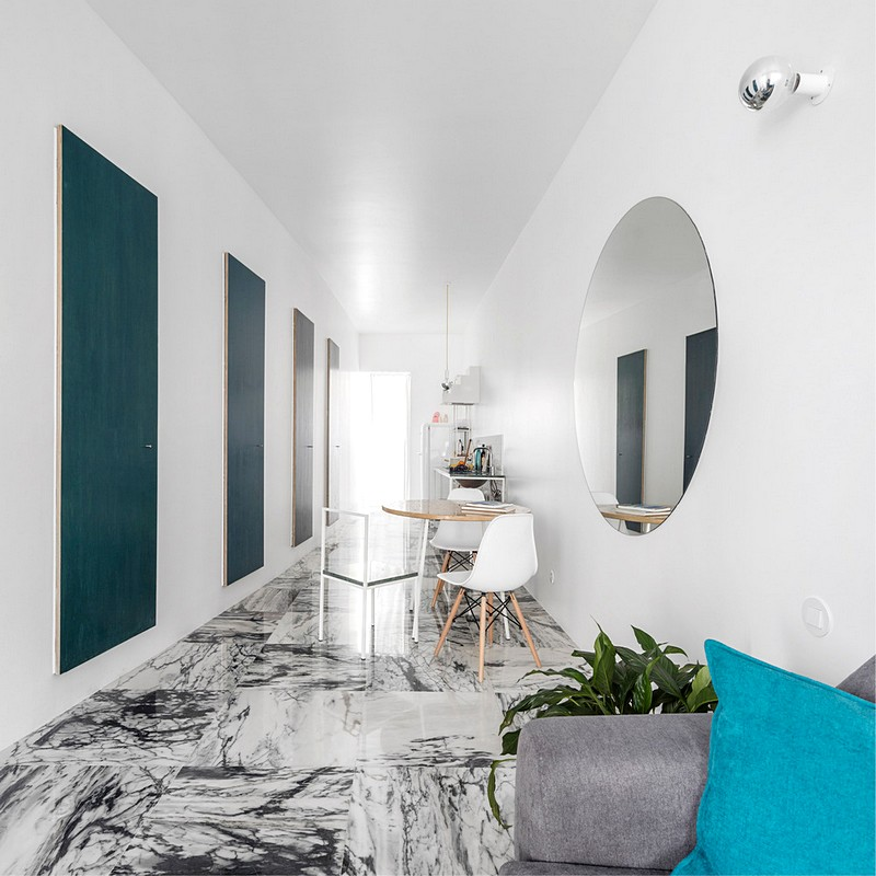 Super mooi ingericht smal appartement uit Lissabon
