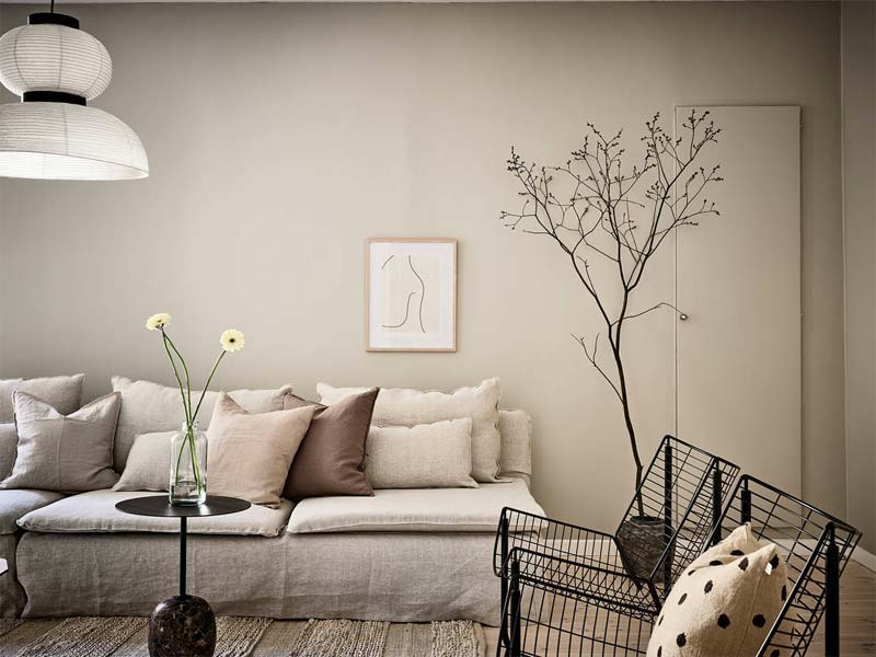 taupe interieur kussens