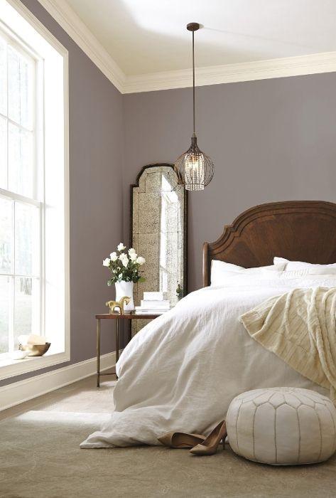 taupe-muur-slaapkamer