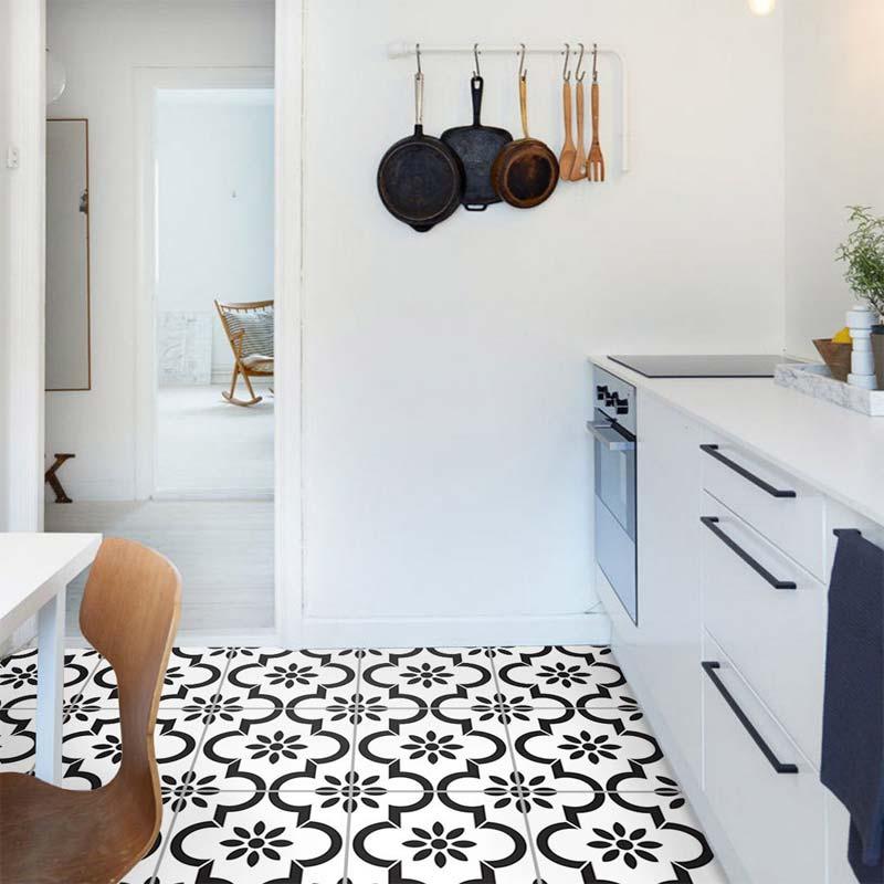 tegelstickers keuken vloer