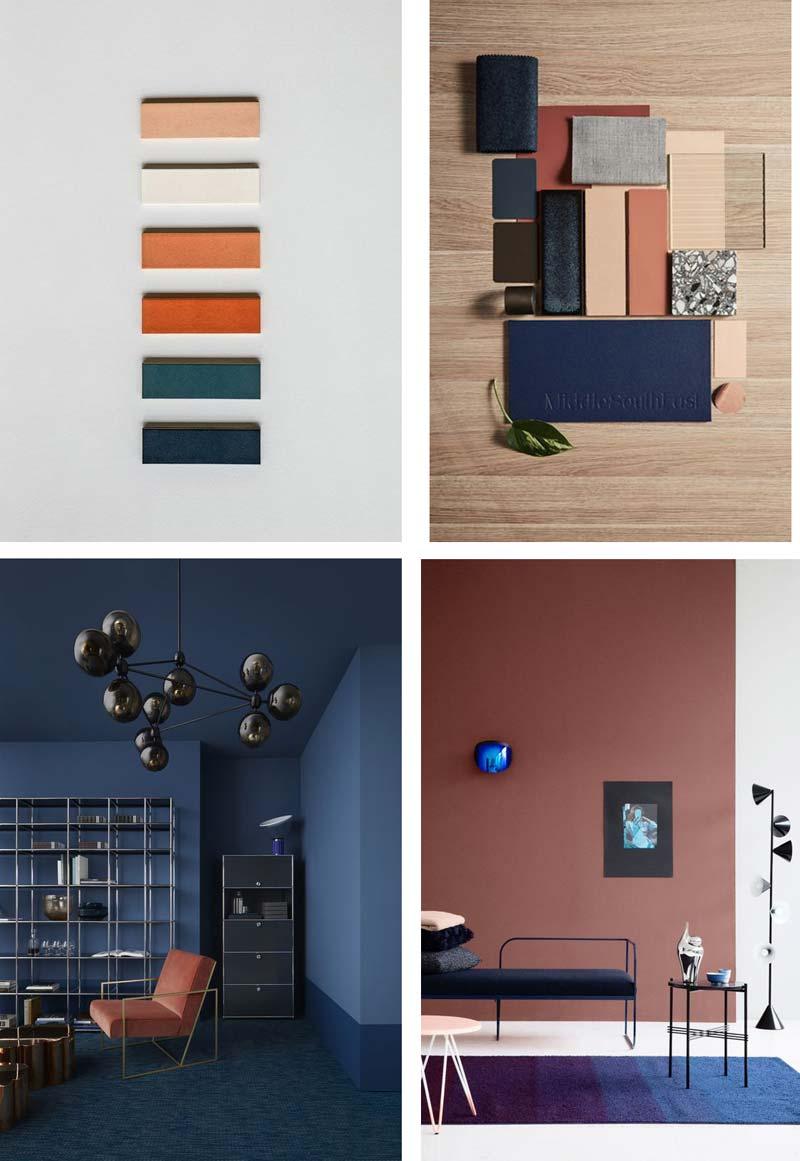 Terracotta combineren blauw