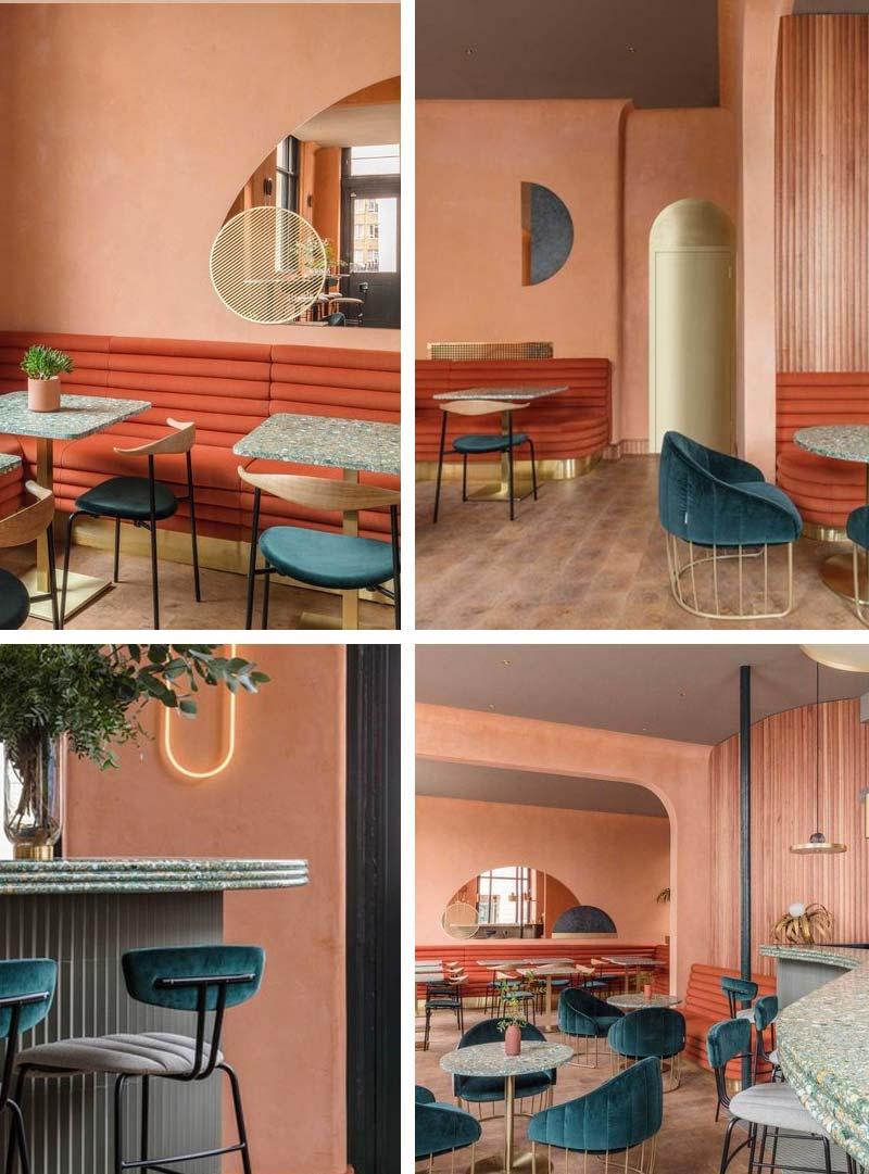 Terracotta interieur restaurant Londen Omar' Place