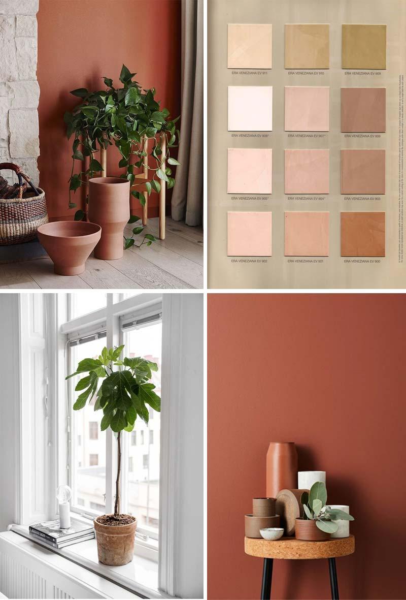 terracotta kleur interieur