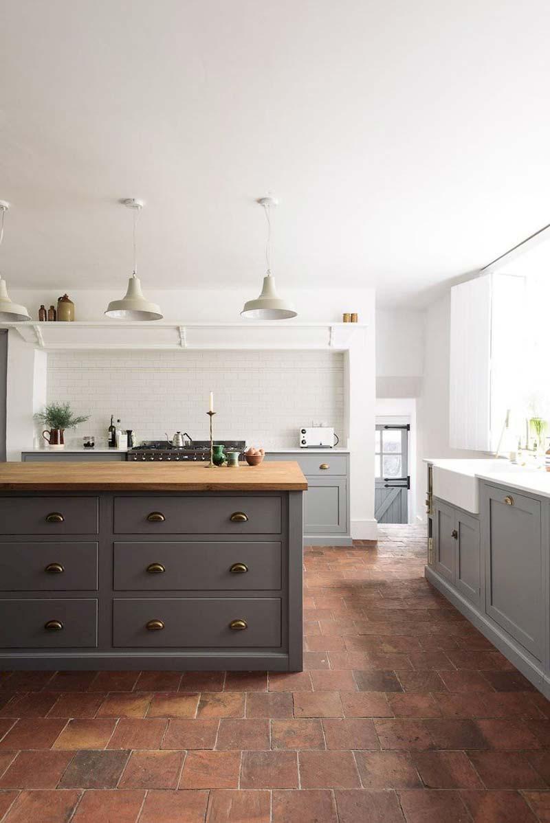 terracotta vloertegels keuken