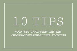Onderhoudsvriendelijke voortuin tips