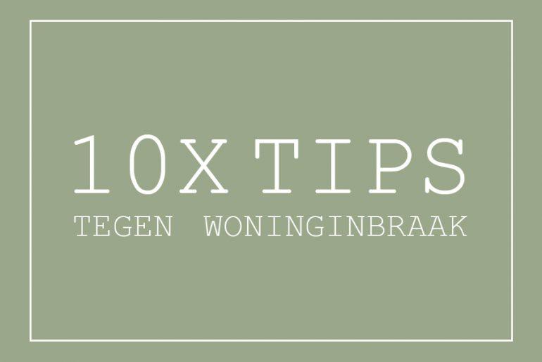 tips woninginbraak
