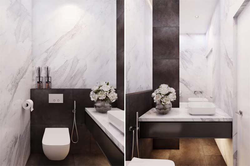 toilet inspiratie luxe marmer