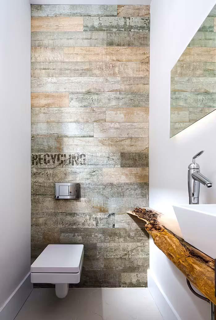 toilet inspiratie modern rustiek