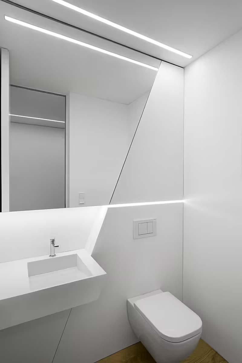 toilet inspiratie strak minimalistisch toilet