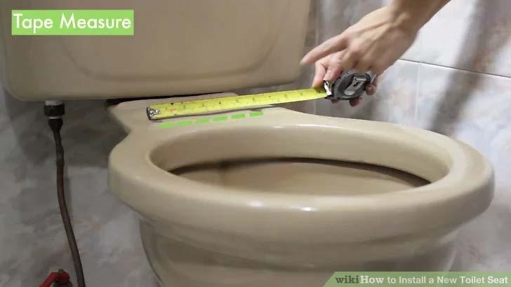 toiletbril vervangen 1 opmeten