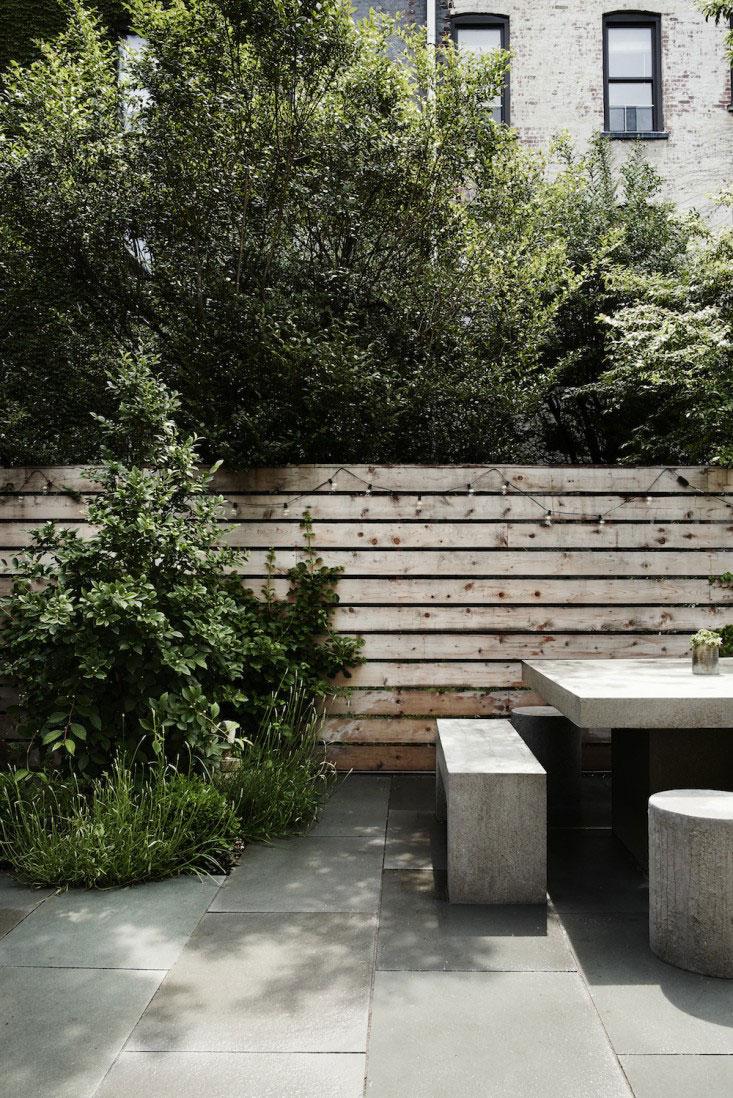 tuin ideeën betonnen tuinmeubelen