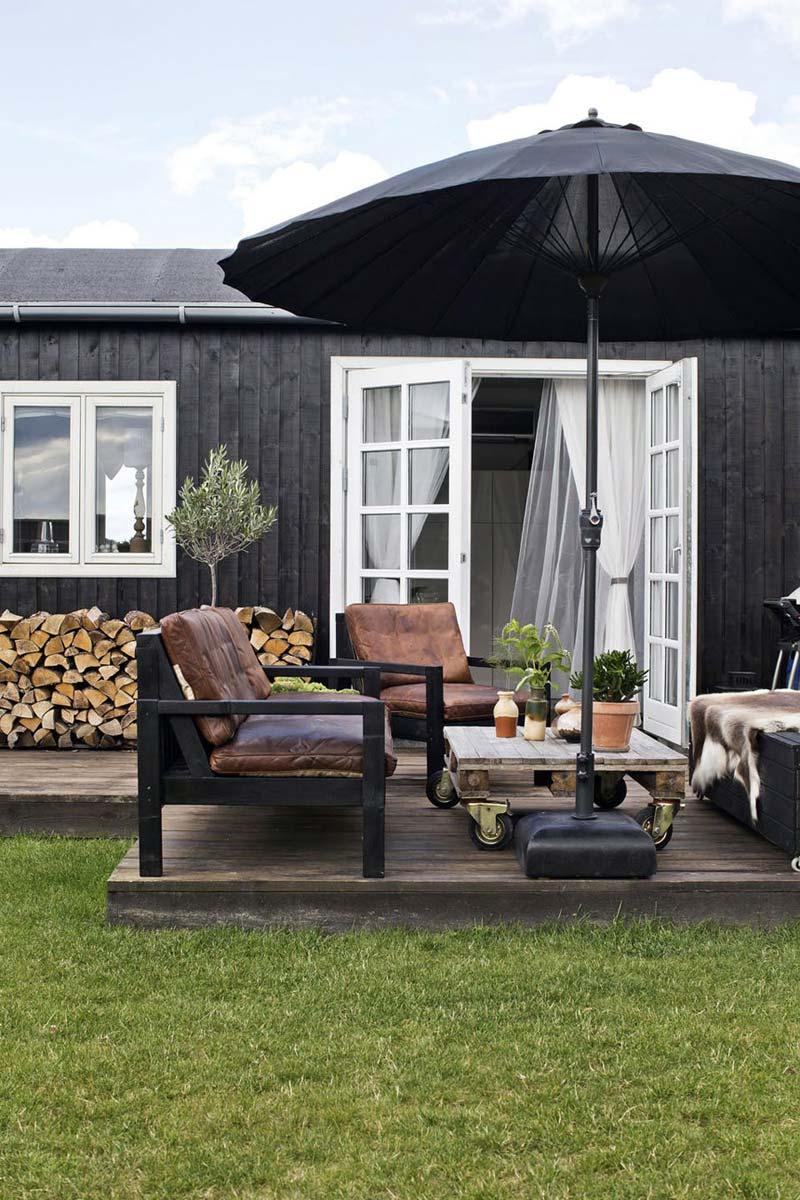 tuin ideeën houten tuinmeubelen