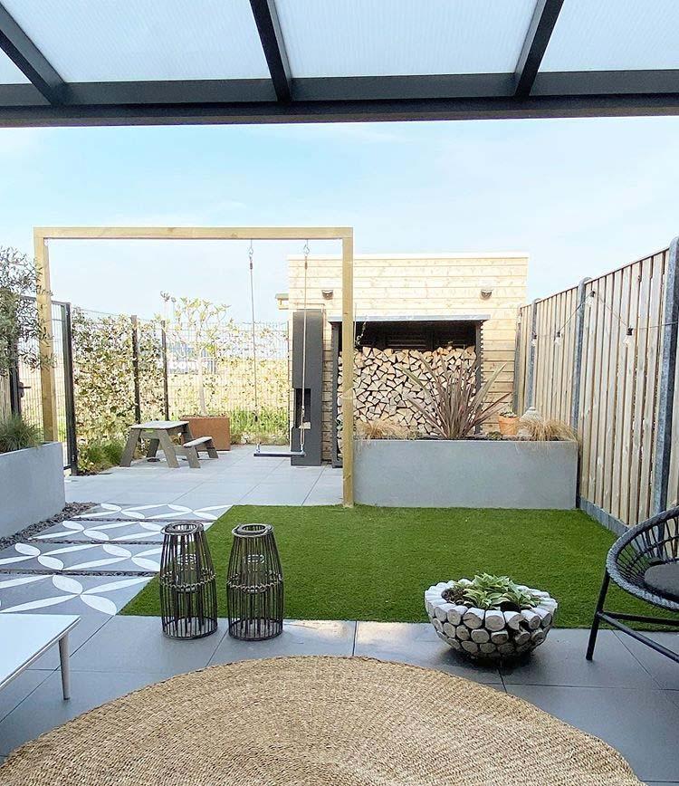 tuin ideeën onderhoudsvriendelijke tuin lust voor het oog