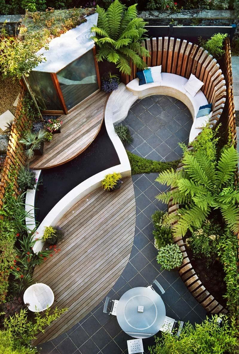 tuin ideeën tuinontwerp ronde vormen