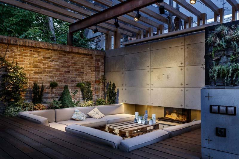 Tuin ideeën verzonken lounge