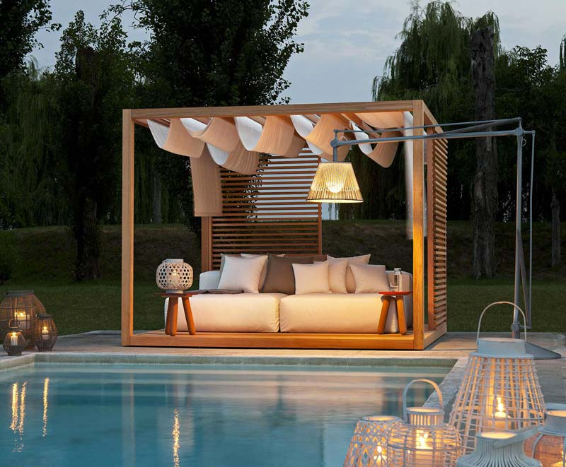 Tuin luifels Luxe cabana bed