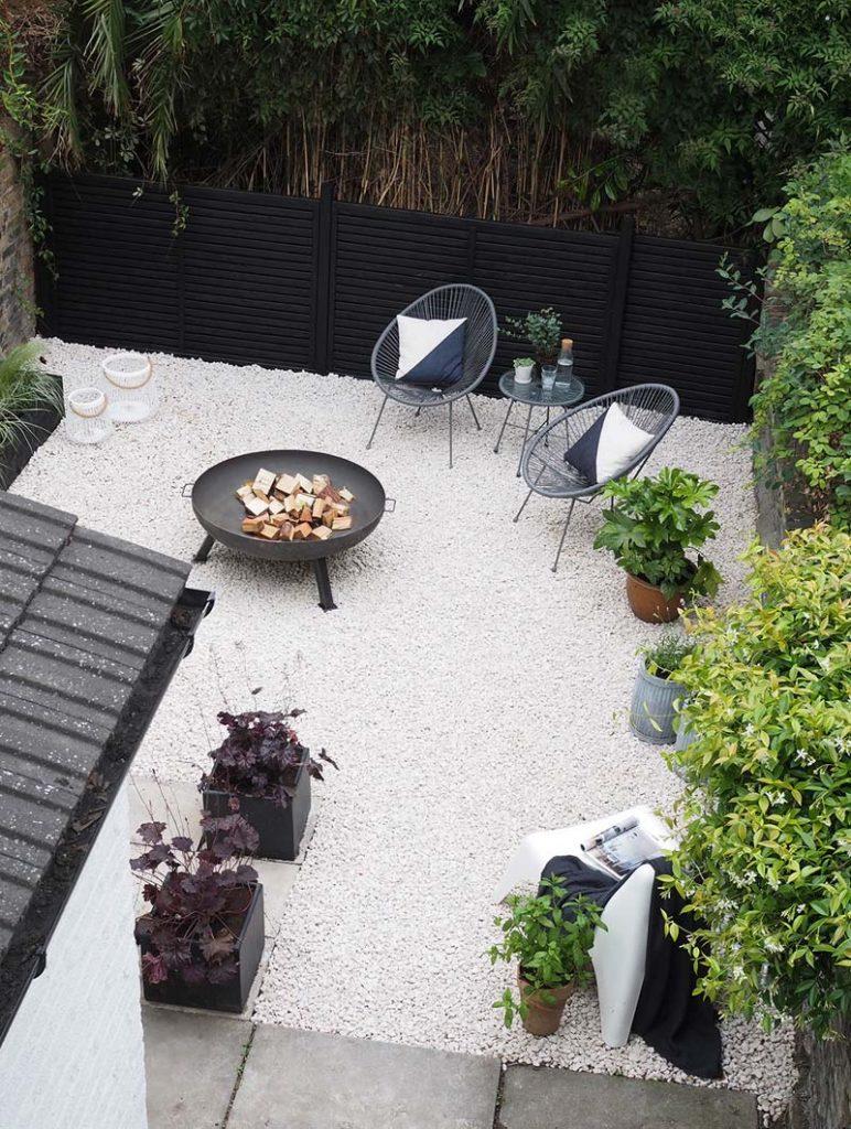 Tuin ontwerpen Grind in de tuin